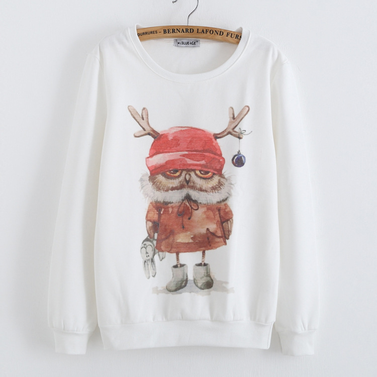 [Anny] 2014 new style fashion women Lovely big tree hoodies 3D cotton printing women's no fleece sweatshirt 21 model(China (Mainland))