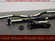 MTB handlebar carbon fibre riser flat handlebar +seatpost +stem +top cap bike parts bicycle parts