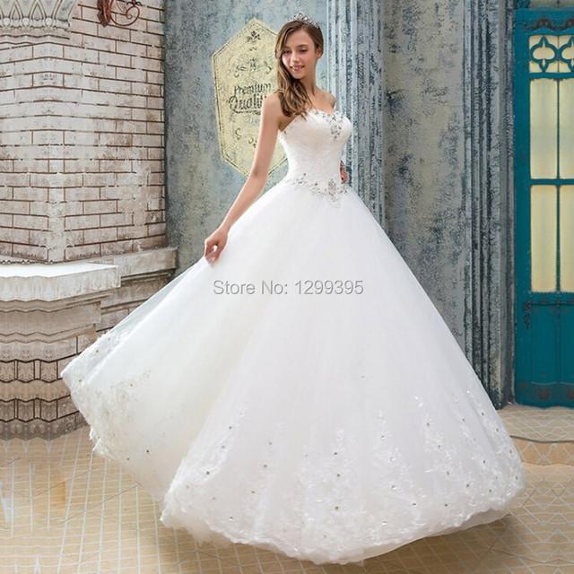 Принцесса слоновая кость бальное платье свадебное платье свадебные платья с кружевом ...