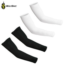 WOLFBIKE Cooling Arm Sleeves 1 Pair Athletic Outdoor Sports Skins UV Cover Cycling Arm Warmers Sun Protection Golf Oversleeve(China (Mainland))