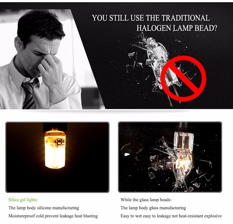 10PCS Energy Saving 220V LED Lamp bulb Replace 3W 5W 7W 9W Fluorescent Light 2835 LED 24 48 SMD G4 LEDs lampada led