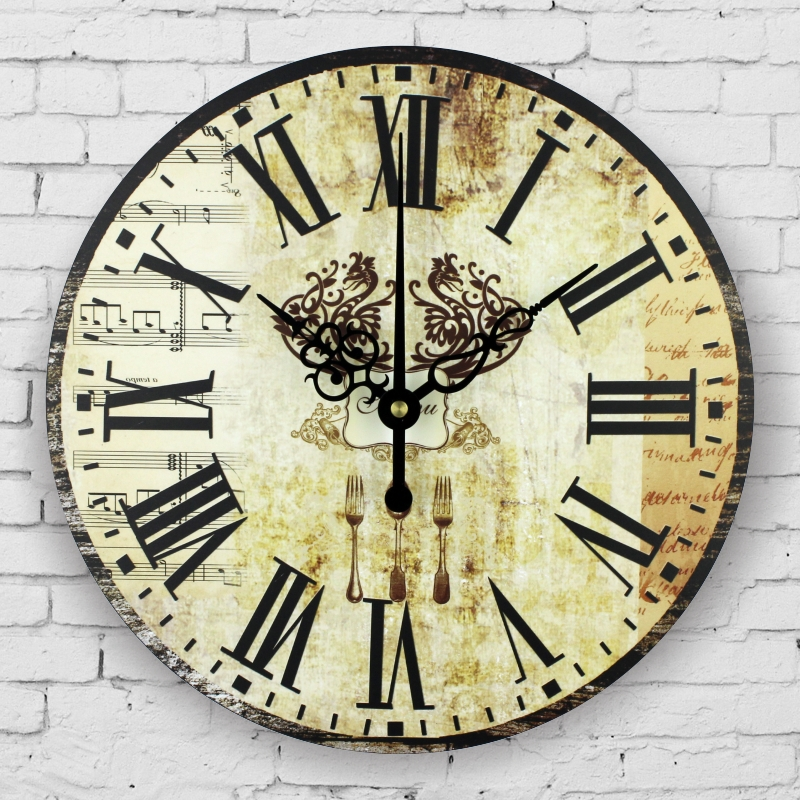 kitchen decorative wall clocks absolutely silent fashion ...