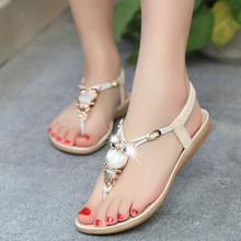 2016 Summer Flat Sandals Woman Shoes Sapato Luxury Owl Rhinestone Herringbone Women Sandalias Bohemian sandalias mujer RD863528(China (Mainland))