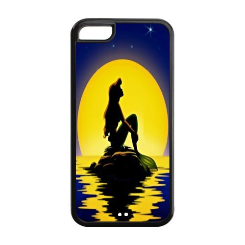 Princess Ariel The Little Mermaid Cover Case for For iPhone 5C Black and White MZ5C00204 Best Buy Cell Phone Cases(China (Mainland))