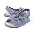 New Born Baby Little Kids Blue Jean Baby Girl Sandals Toddler Boots prewalker toddler shoes
