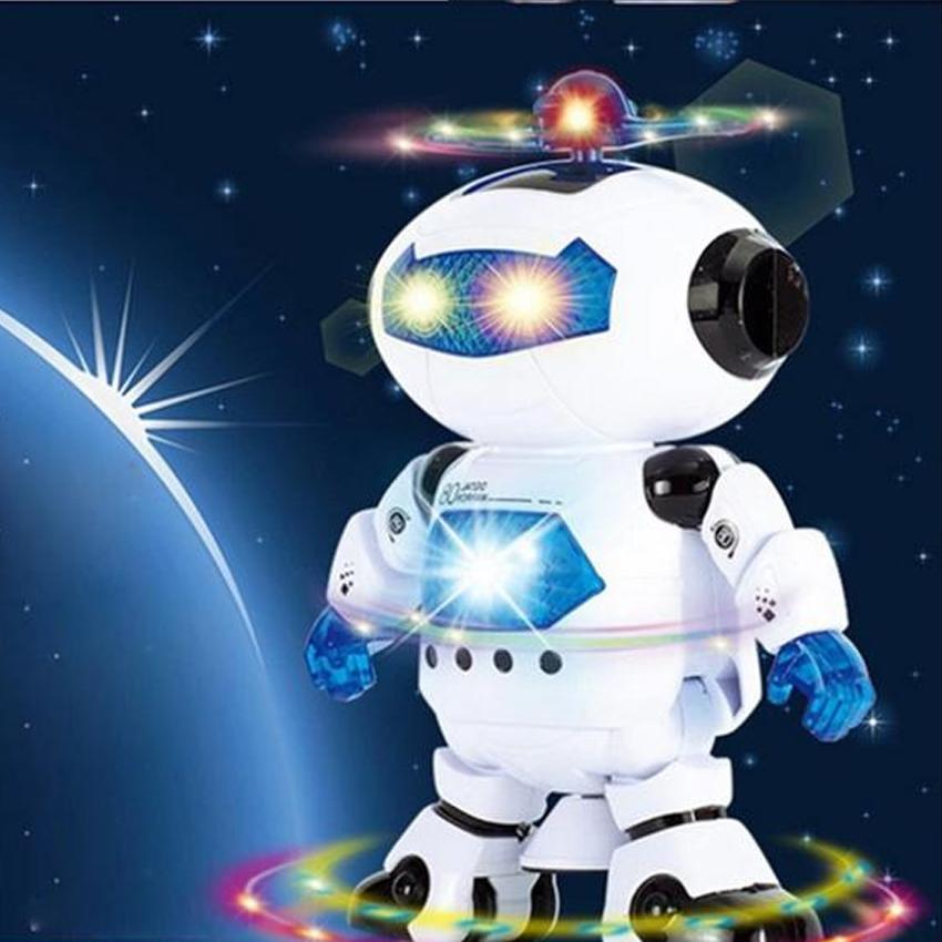 free shipping 30cm Electric Smart Space Walking Dancing Robot Children Kids Music Light electric robort Toys(China (Mainland))