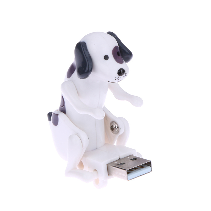 New White Mini Funny Cute USB Humping Spot Dog Toy USB Gadgets For PC Laptop Gift for Kids(China (Mainland))