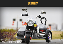 Children electric motorcycle Harley large people can sit three men electric car child electric dual-drive motorcycle(China (Mainland))
