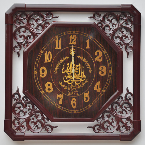 A Good Man ancient paintings hanging table / craft wall clock / mute scanning movement / wood classical bell(China (Mainland))