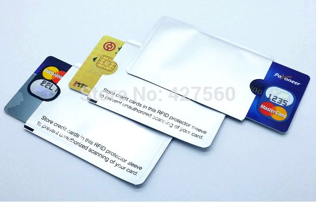 RFID Shielded Sleeve Card Blocking 13.56mhz IC card Protection NFC security card prevent unauthorized scanning(China (Mainland))