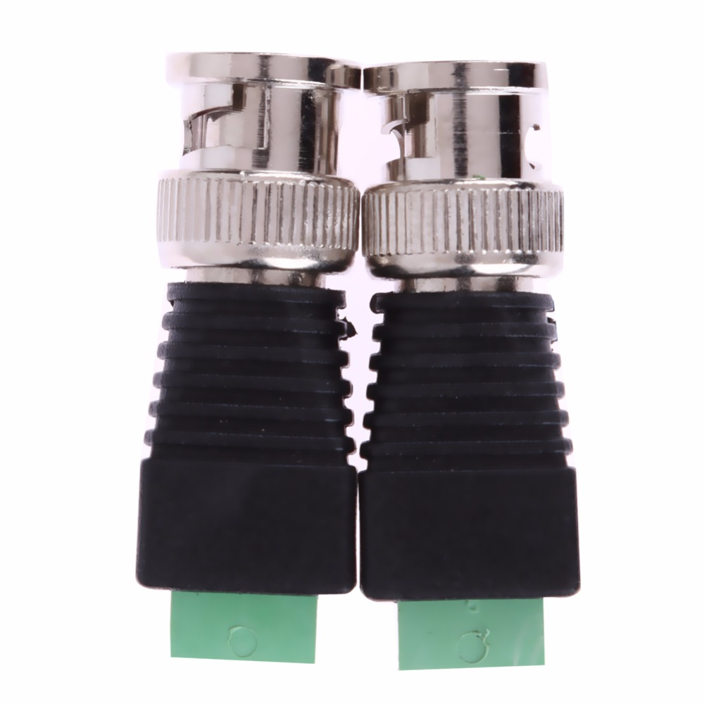 2Pcs Video AV Balun BNC plug for CAT5 Camera CCTV Video BNC male AV Balun BNC plug Connector Adapter(China (Mainland))