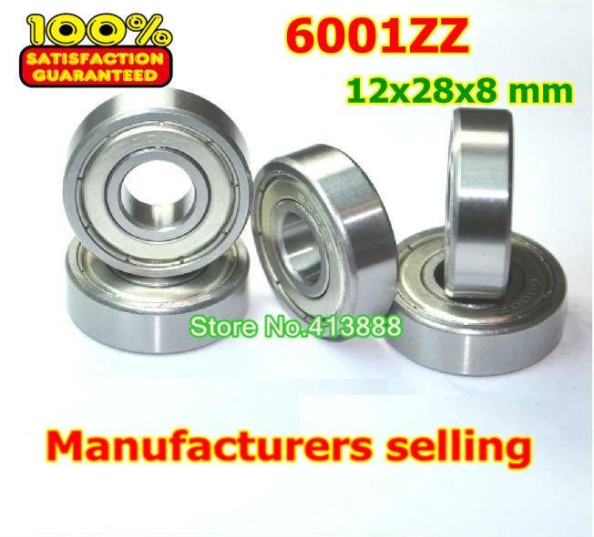 High deep groove ball bearing 6001 Z 6001ZZ 6001Z 6001-2Z 80101 12*28*8 mm 20pcs/lot free )