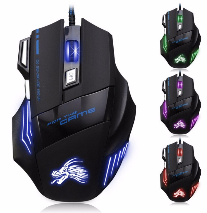 Hot-sale High Quality Game Mouse Professional Gifts 5500 DPI 7 Button LED Optical USB Wired Gaming Mouse Mice For Pro Gamer(China (Mainland))