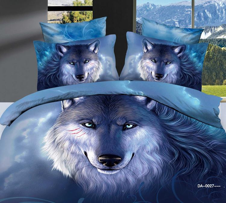 Popular wolf comforter set buy cheap wolf comforter set for Housse de couette in english