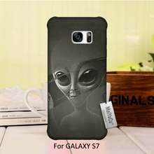 Diy Luxury High-end Protector Black phone case Alien rays Shower Curtain For ALAXY s7 case(China (Mainland))