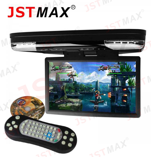 2015 NEW Big Size HD Screen 15.6 inch 1080P Video HD Monitor Wide Screen Overhead DVD Player with HDMI Port support 32 BIT games(China (Mainland))