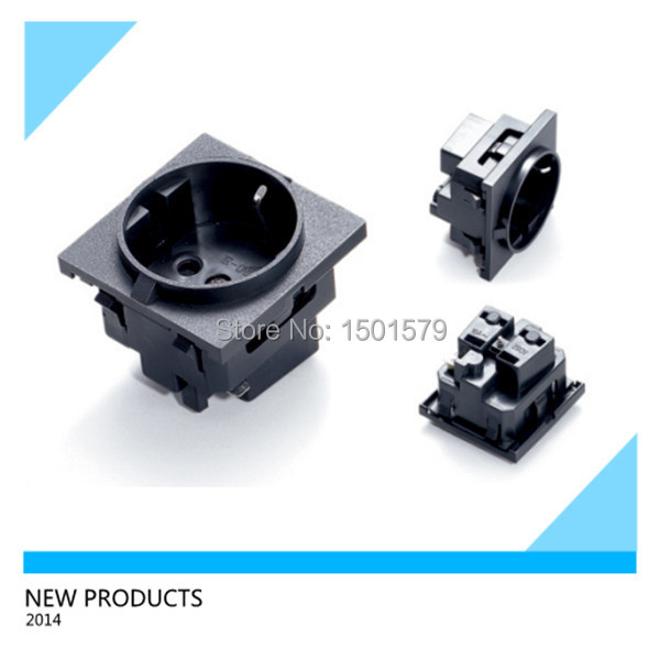 10pcs e 08 germany power socket korea wiring receptacle power outlet schuko outlet in