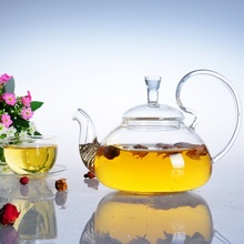 700ml pyrex glass tea pot heat resistant glass teapot with infuser, high quality household glass kettle