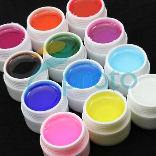 SG Post Freeshipping-12 Colors Glaze Transparant UV Gel for UV Nail Art Tips Extension Decoration UV Builder Gel Set SKU:C0046