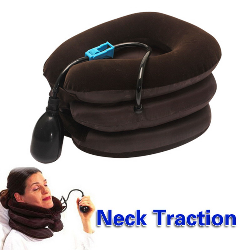 High Quality Air Cervical Neck Traction Soft Brace Device Head Back Shoulder Neck Pain Health Care(China (Mainland))