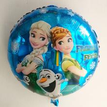 Princess Elsa And Anna Foil Balloons Happy Birthday Party Decoration Balloon Air Ballons Globos Baloes brinquedos 10pcs/lot(China (Mainland))