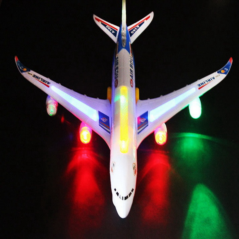 A380 Electric Universal Airliner Model Children Toys Airbus Large Passenger Aircraft With Music Light No Remote Boy Toy 10785(China (Mainland))