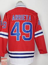 2016 NEW Mens Jerseys #12 Kyle Schwarber #17 Kris Bryant 44 Anthony Rizzo 49 Jake Arrieta Long Sleeve Red sports Baseball Jersey(China (Mainland))