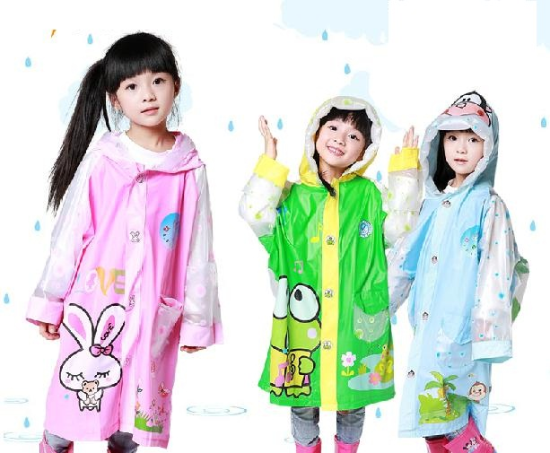 Lovely Children reflective raincoat student rainwear with bag place cartoon design 3 color to choose<br><br>Aliexpress
