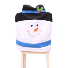 1Pcs Christmas Chair Covers Snowman Back Lovely Party Home Table Gift Dinner