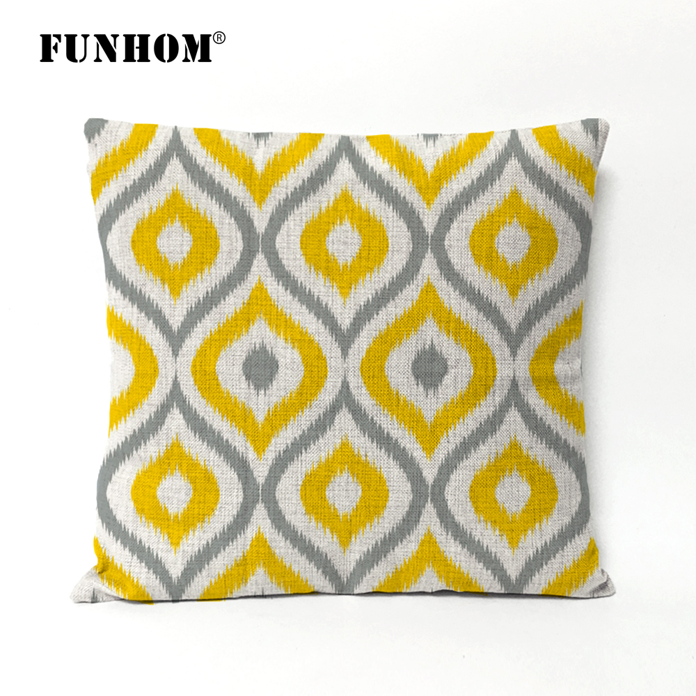 Nordic Modern Creative Wave Bohemia geometric Pillow cushions thick linen pillowcase sofa cushion home decorative Pillows