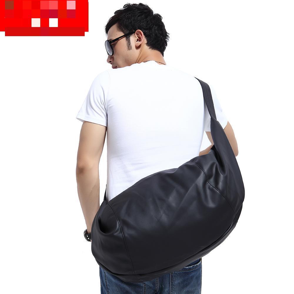 Free shipping 2015 new Men's barrel bag shoulder oblique cross PU Mens messenger bag for man fashionable cylinder sports gym bag(China (Mainland))