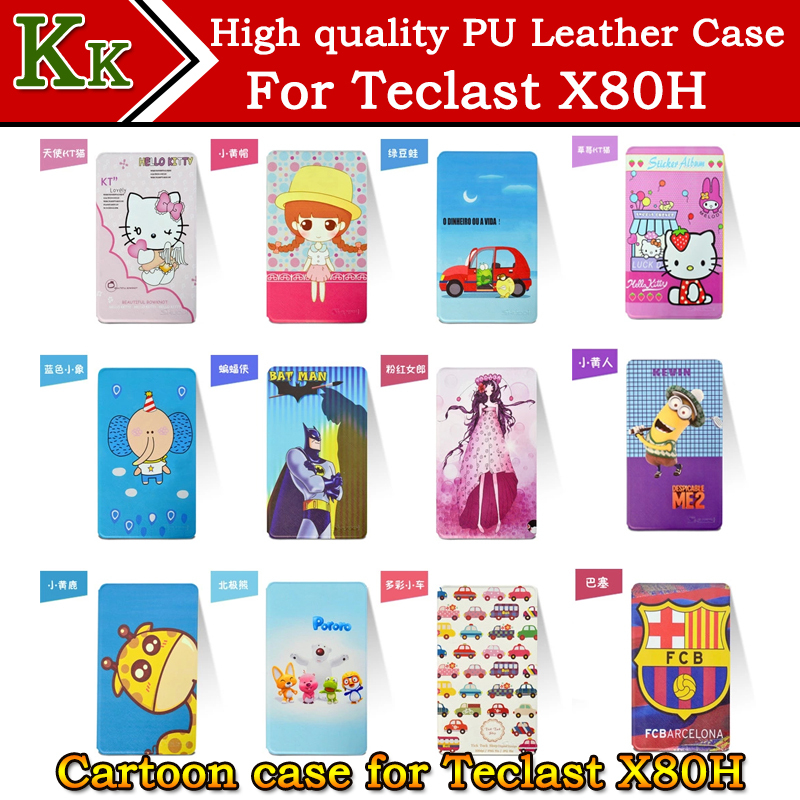 Newset arrival Ultra-thin Cartoon Patterns Case for Teclast X80H tablet Customized cover for X80H 8inch tablet pc freeshipping(China (Mainland))