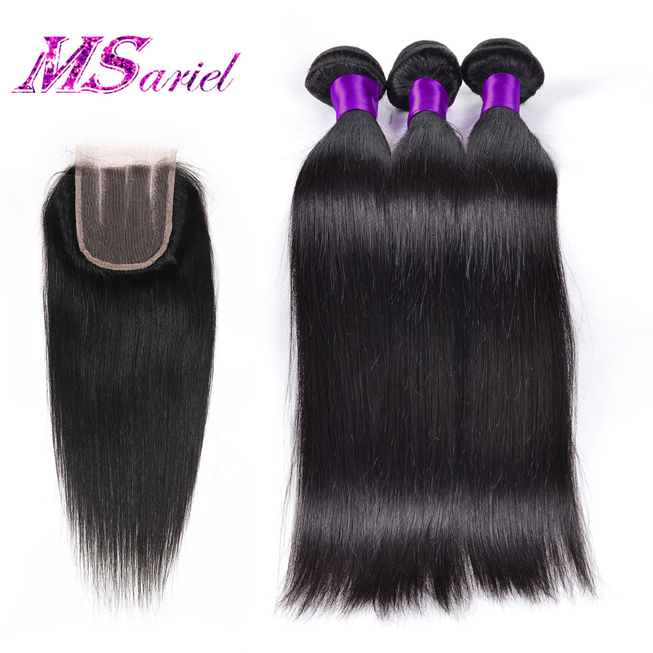 Brazilian Straight With Closure 3pcs Brazilian Virgin Hair Straight With Closure 7a Mocha Hair Brazilian Straight Human Hair<br><br>Aliexpress