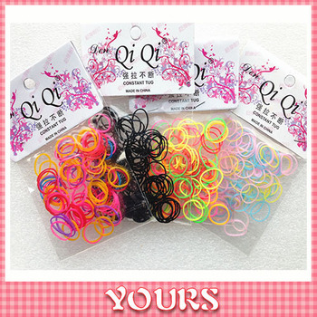 (#JH025 ) Kids Candy Color Rubber Elastic Hair Bands High Quality Tiny Hair Ropes Fashion Hair Jewelry Cheap 4PACK/LOT