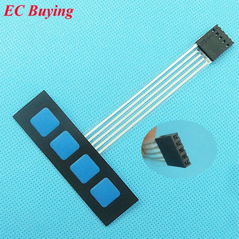 5 pcs 1*4 4 Key Matrix Membrane Switch Keypad Keyboard Control Panel SCM Extended Keyboard Super Slim Arduino Words DIY