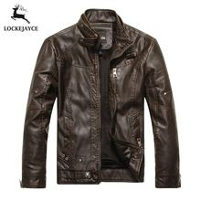 Leather jacket men biker jaqueta de couro masculina mens leather jackets and coats PY001(China (Mainland))