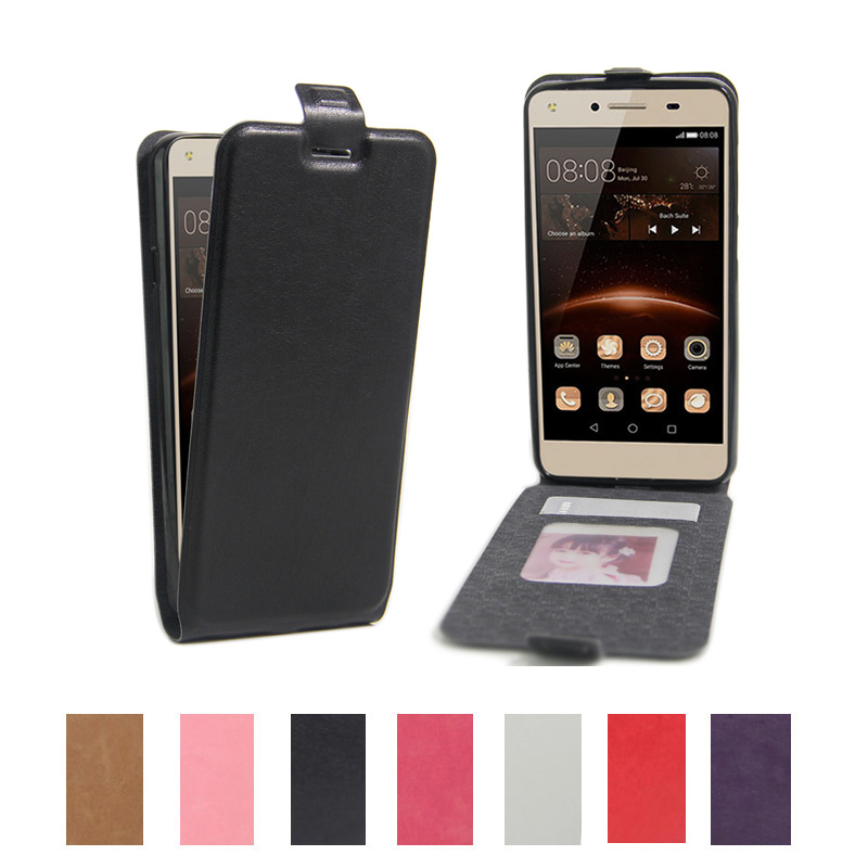 Retro PU Leather Filp Cover Case for Huawei Y5 II 5.0 inch Luxury Vertical Magnetic Flip Phone Case With Photo Frame(China (Mainland))