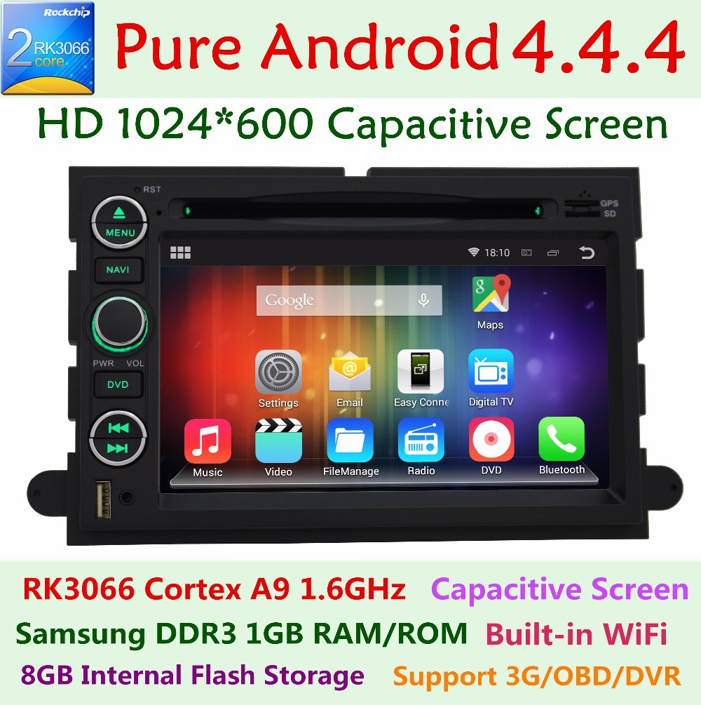 Android 4.4 Car dvd player For Ford explorer f150 f250 f350 edge expedition mustang escape GPS Navigation Radio Pixels 1024X600(China (Mainland))