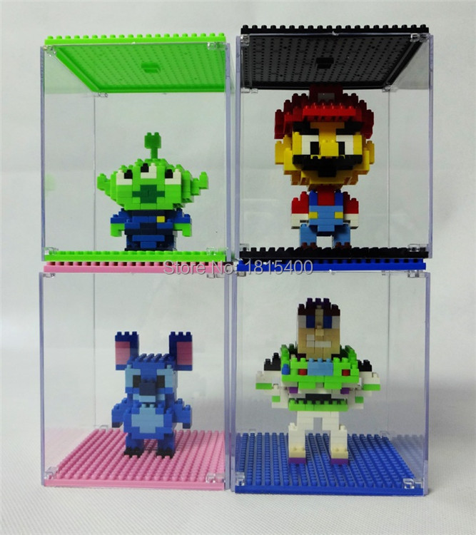 Compatible With Diamond Building Blocks Bricks Small Particles Mini Figures DIY Toy Display Box Dust Cover Box Toy For Kids(China (Mainland))