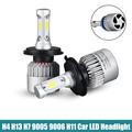 2x H4 H7 H13 H11 9005 9006 COB LED Headlight 72W 8000LM All In One Car