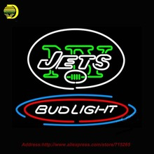 Bud Light N YY Jets Beer Light Neon Signs Beer Bar Pub Club Neon Gifts Neon Neon Light Signs Neon Light Available multiple 31×24
