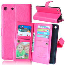 High quality Leather Wallet Case cover for Sony Xperia M5 E5603/M5 Dual E5633 with photo holder card slots for Women Girl