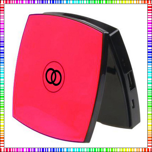 new fashion 5000 mAh CC C5 makeup mirror Power Bank For Iphone 5s 6/6 plus IOS Android(China (Mainland))