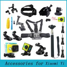 Xiaomi Yi Accessories Set Waterproof Case Protective Border Frame Chest Wrist Belt Head Strap Mount Monopod For Xiao yi Camera
