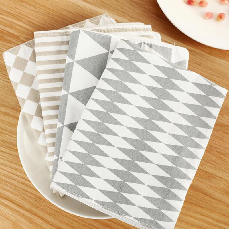 New Fresh Creative Geometric Europe Placemat Cotton Table Mat Fashion Pattern 4 Colors Place Mats Quality Dinning Pads(China (Mainland))