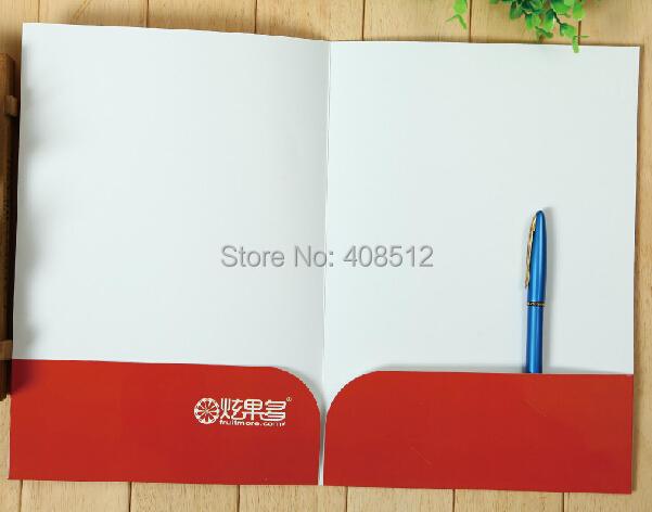 Custom design A4 presentation document folder printing(China (Mainland))
