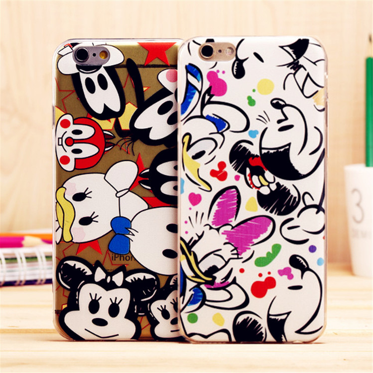Mix Color Cute Cartoon Soft Silicon Case for iPhone 5 5S Duck Mickey Minie Hello Kitty Bear TPU Phone Bag Cover(China (Mainland))