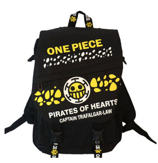 detective conan NEW Anime ONE PIECE/Trafalgar Law luffy Cosplay bag japanese cartoon canvas Backpack shoulder school bag