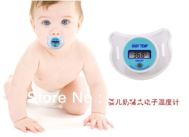 Free shipping LCD Digital Thermometer as Baby nipple thermometer Pacifier electronic thermometer as Mommy and Baby Porducts.
