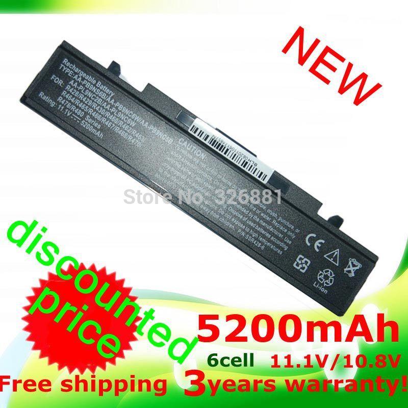 Гаджет  NEW 5200mAh battery for Samsung AA-PB9NC5B AA-PB9NC6B AA-PB9NC6W AA-PB9NC6W/E AA-PB9NS6B AA-PB9NS6W AA-PL9NC2B AA-PL9NC6B None Компьютер & сеть